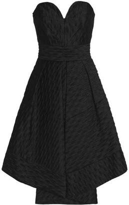 Milly Woman Strapless Pleated Cloqué-satin Dress Black Size 6 Milly Low Shipping Fee Online a2LV19