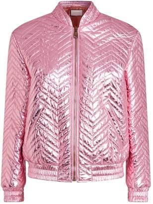 Gucci Metallic Leather Bomber Jacket