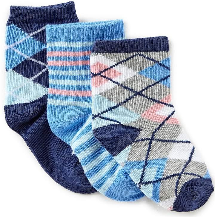 Baby Boys Argyle-Print Crew Socks