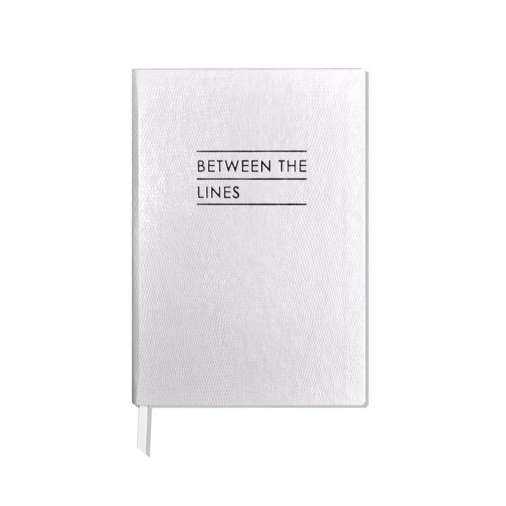 Between the Lines Notebook White