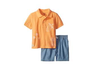 Ralph Lauren Mesh Polo Chambray Shorts Set (Infant)
