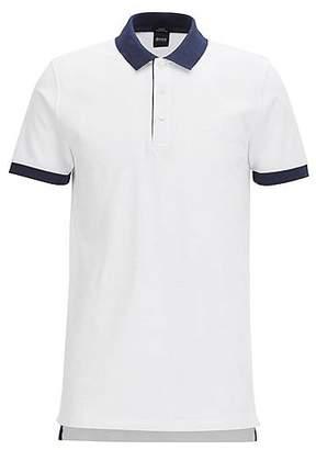 HUGO BOSS Slim-fit cotton-piqué polo shirt with contrast trims