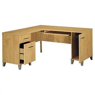 """Bush Somerset 60"""" L-Shape Wood Computer Desk in Maple Cross"""