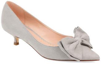 Journee Collection Womens Orana Pumps Slip-on Pointed Toe Kitten Heel