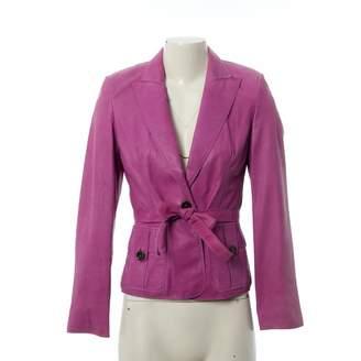 HUGO BOSS Purple Leather Jackets