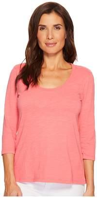 Mod-o-doc Slub Jersey 3/4 Sleeve Scoopneck Tee Women's Long Sleeve Pullover