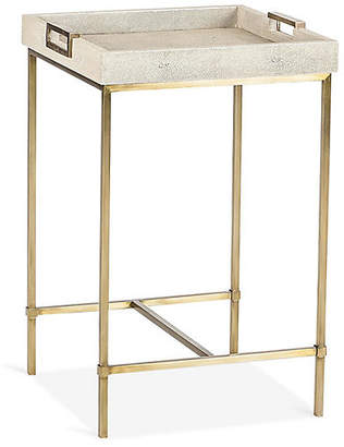 Lexi Square Tray Side Table - Ivory - Maison 55