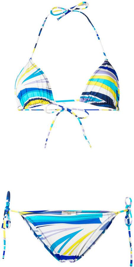 Emilio PucciEmilio Pucci patterned two-piece bikini