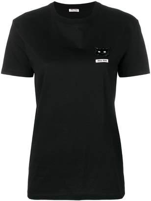 Miu Miu cat embellished T-shirt
