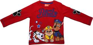 PAW PATROL BOYS Rockey Marshall and Chase Embroidered Long Sleeve T Shirt by BestTrend