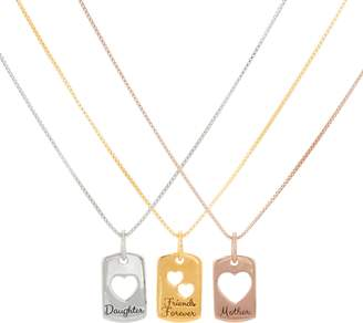 Extraordinary Life Sterling Set of 3 Heart Pendants with Chains