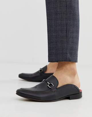 Base London backless loafers in black