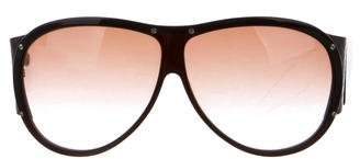 Bottega Veneta Acetate Shield Sunglasses