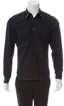 Calvin Klein Collection Western Spread Collar Button-Up Shirt