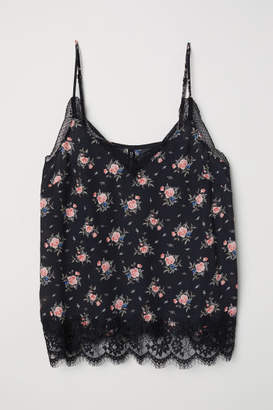 H&M Satin Camisole Top - Pink