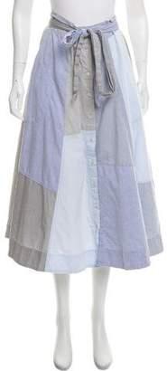 Lisa Marie Fernandez Midi Chambray Skirt