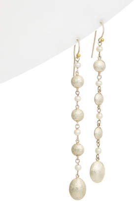 Gurhan Jordan 24K Yellow Gold & Silver 3-6Mm Pearl Drop Earrings