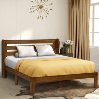 GranRest Mid Century Wooden Bed, Full