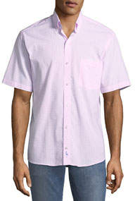 Gingham Short-Sleeve Sport Shirt