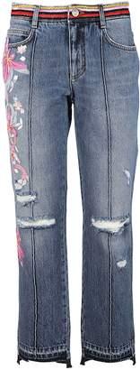 Ermanno Scervino Floral Applique Jeans