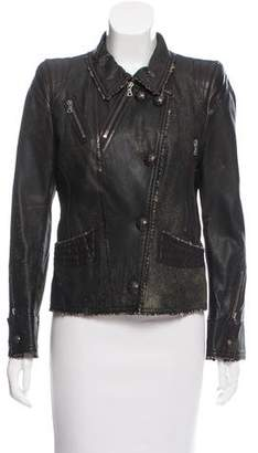 Sylvie Schimmel Distressed Leather Jacket
