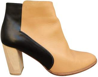 Karine Arabian Beige Leather Ankle boots