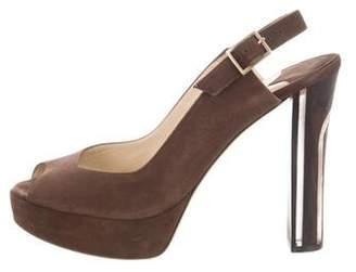 Jimmy Choo Platform Suede Sandals