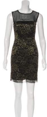 Diane von Furstenberg Sleeveless Lame` Mini Dress