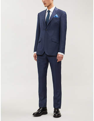 Richard James Hopsack regular-fit wool suit
