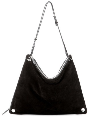 The Row Origami suede shoulder bag