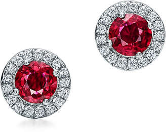 Tiffany & Co. Soleste earrings with rubies and diamonds.