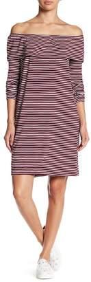 Love, Fire Off-the-Shoulder Striped Print Dress