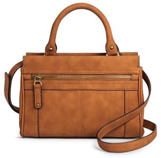 Merona Women's Solid Satchel Faux Leather Handbag with Zipper Pockets - Merona $34.99 thestylecure.com