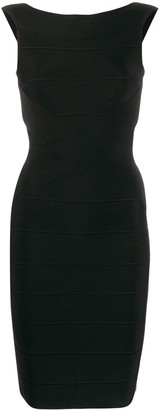 Herve Leger fitted mini dress