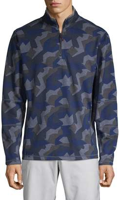 Hawke & Co Melange Camo Half-Zip Sweater
