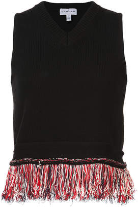 Carven fringed shell top