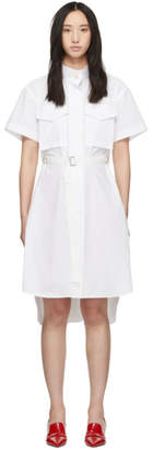 Sacai White Belted Shirting Dress