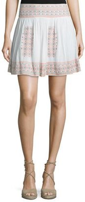 Joie Shandon Embroidered Cotton Skirt $198 thestylecure.com