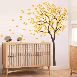 Wall Art Tree With Two Little Hedgehog's Wall Sticker