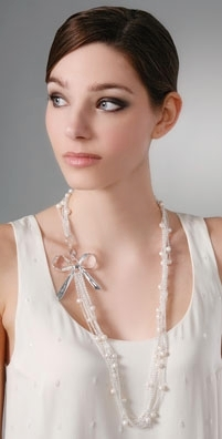 Rachel Leigh Audrey Long Layered Pearl Necklace