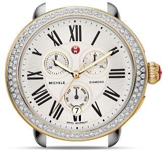 Michele Serein Two-Tone Diamond Watch Head, 40 x 38mm