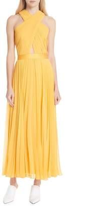 Joie Elenita Pleated Chiffon Dress