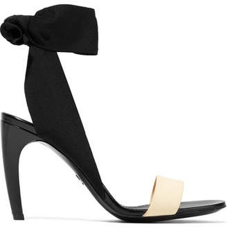 Proenza Schouler Canvas, Rubber And Leather Sandals - Black