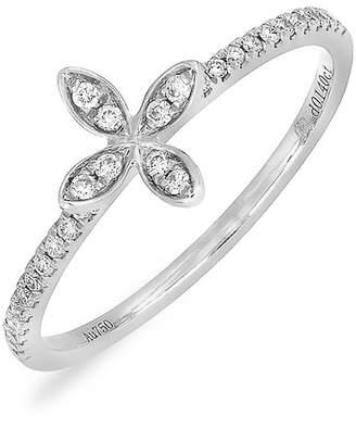 White flower ring shopstyle bony levy 18k white gold pave diamond flower ring 014 ctw mightylinksfo