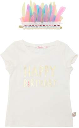 Billieblush Happy Birthday Cotton Jersey T-Shirt