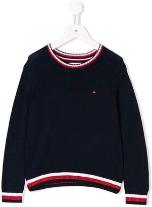 Tommy Hilfiger Junior striped trim jumper
