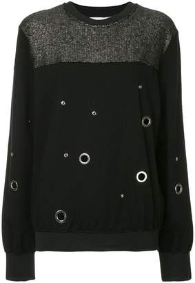 CNC Costume National eyelet metallic sweater