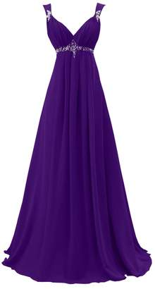 DINGZAN Woman's Straps Empire Maternity Bridesmaid Dresses Maxi Gowns 24