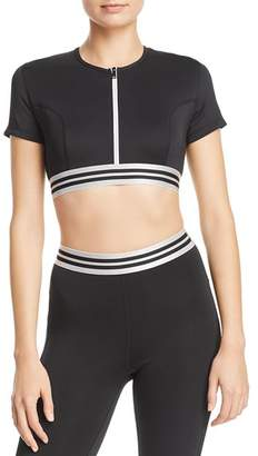 KENDALL + KYLIE Zip-Front Cropped Top