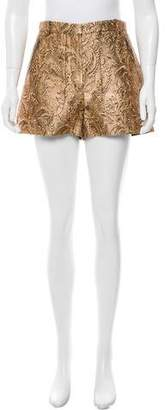 Lanvin Metallic High-Rise Shorts w/ Tags